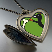 Necklace & Pendants - doberman dog large heart locket pendant necklace Image.