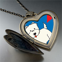 Necklace & Pendants - westie dog large heart locket pendant necklace Image.