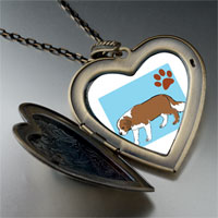 Necklace & Pendants - saint bernard dog large heart locket pendant necklace Image.
