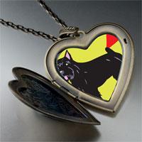 Necklace & Pendants - bouvier dog large heart locket pendant necklace Image.