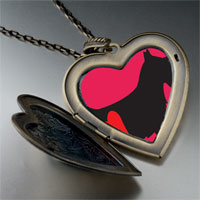 Necklace & Pendants - scottie dog large heart locket pendant necklace Image.
