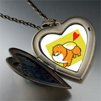 Necklace & Pendants - pomeranian dog large heart locket pendant necklace Image.