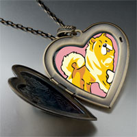Necklace & Pendants - chowchow dog large heart locket pendant necklace Image.