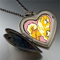 Necklace & Pendants - chowchow dog large heart locket pendant necklace Image.