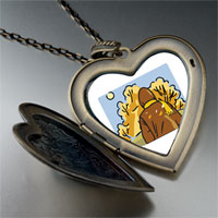 Necklace & Pendants - fall autumn weather large heart locket pendant necklace Image.