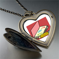 Necklace & Pendants - alphabet book large heart locket pendant necklace Image.