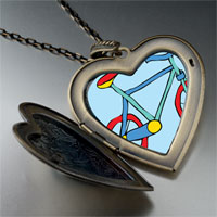 Necklace & Pendants - bicycle large heart locket pendant necklace Image.