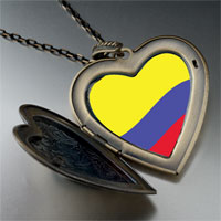Necklace & Pendants - colombia flag large heart locket pendant necklace Image.