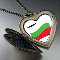 Necklace & Pendants - bulgaria flag large heart locket pendant necklace Image.