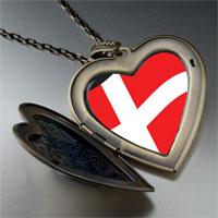 Necklace & Pendants - denmark flag large heart locket pendant necklace Image.