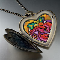 Necklace & Pendants - art lobster dinner large heart locket pendant necklace Image.