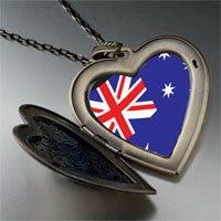 Necklace & Pendants - australia flag large heart locket pendant necklace Image.