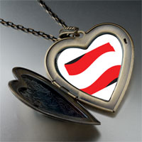 Necklace & Pendants - austria flag large heart locket pendant necklace Image.