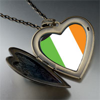 Necklace & Pendants - ireland flag large heart locket pendant necklace Image.