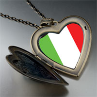 Necklace & Pendants - italy flag large heart locket pendant necklace Image.