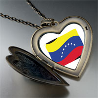 Necklace & Pendants - venezuela flag large heart locket pendant necklace Image.