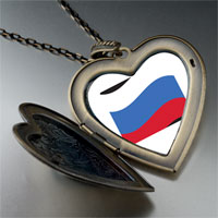 Necklace & Pendants - russia flag large heart locket pendant necklace Image.