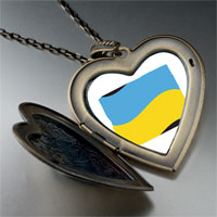 Necklace & Pendants - ukraine flag large heart locket pendant necklace Image.