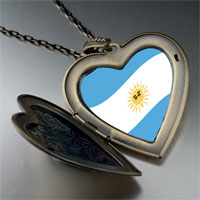 Necklace & Pendants - argentina flag large heart locket pendant necklace Image.