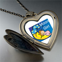 Necklace & Pendants - moon girl large heart locket pendant necklace Image.