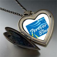 Necklace & Pendants - forever blue large heart locket pendant necklace Image.
