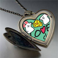 Necklace & Pendants - love to share cute rat photo large heart locket pendant necklace Image.