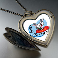 Necklace & Pendants - keep close large heart locket pendant necklace Image.