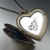 Necklace & Pendants - egyptian mau cat large heart locket pendant necklace Image.