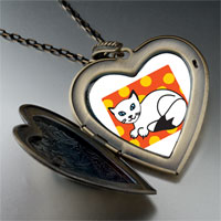 Necklace & Pendants - balinese cat large heart locket pendant necklace Image.