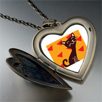Necklace & Pendants - havana brown cat large heart locket pendant necklace Image.