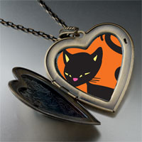 Necklace & Pendants - bombay cat large heart locket pendant necklace Image.
