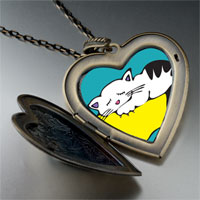 Necklace & Pendants - norwegian forest cat large heart locket pendant necklace Image.