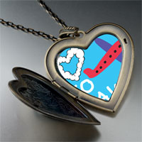 Necklace & Pendants - love to travel photo large heart locket pendant necklace Image.