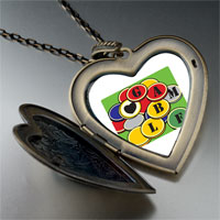 Necklace & Pendants - love to gamble large heart locket pendant necklace Image.