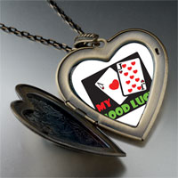Necklace & Pendants - good luck large heart locket pendant necklace Image.