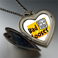 Necklace & Pendants - bad looser large heart locket pendant necklace Image.