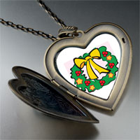 Necklace & Pendants - christmas wreath photo large heart locket pendant necklace Image.