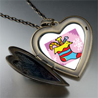 Necklace & Pendants - christmas jewelry halloween candy christmas stocking large heart locket pendant necklace Image.