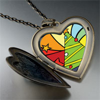 Necklace & Pendants - christmas heart locket pendants christmas tree gifts rainbow large heart locket pendant necklace Image.