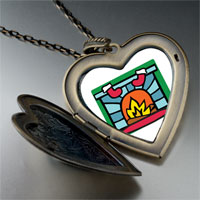 Necklace & Pendants - christmas fireplace large heart locket pendant necklace Image.
