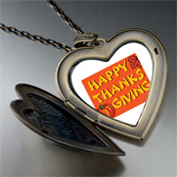 Necklace & Pendants - happy thanksgiving photo large heart locket pendant necklace Image.