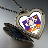 Necklace & Pendants - autumn jack o lantern halloween pumpkin rabbit heart and flower pendant Image.