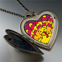 Necklace & Pendants - bright yellow turkey large heart locket pendant necklace Image.