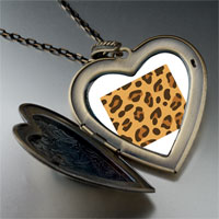 Necklace & Pendants - leopard skin large heart locket pendant necklace Image.