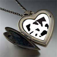 Necklace & Pendants - cow skin large heart locket pendant necklace Image.