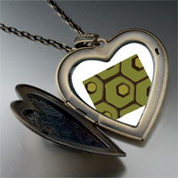 Necklace & Pendants - tortoise skin large heart locket pendant necklace Image.