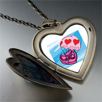 Necklace & Pendants - flying hearts chocolate photo large heart locket pendant necklace Image.