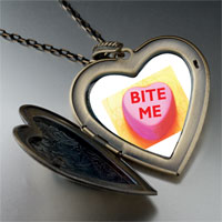 Necklace & Pendants - heart bite photo large heart locket pendant necklace Image.