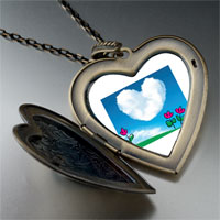 Necklace & Pendants - heart cloud photo large heart locket pendant necklace Image.