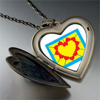 Necklace & Pendants - heart sunflower photo large heart locket pendant necklace Image.